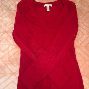 Tops - Long Sleeve Red Shirt